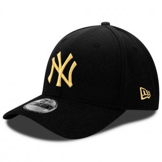 Boné New Era Aba Curva 3930 MLB NY Yankees Gold Preto