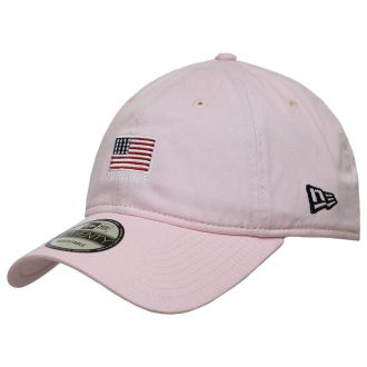 Boné New Era Aba Curva 920 ST Brand Mini Flag EUA Rosa