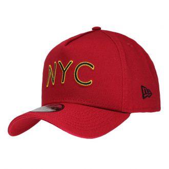 Boné New Era Aba Curva 940 SN Brand AF NYC Outline Vermelho