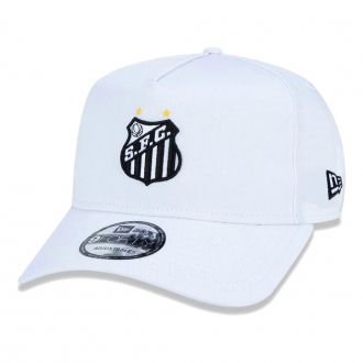 Boné New Era Aba Curva 940 SN Futebol Santos AF Basic Branco