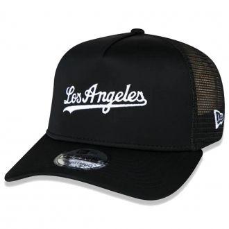 Boné New Era Aba Curva 940 SN MLB Los Angeles AF Trucker Desert Camo