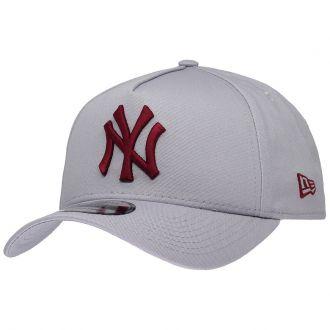 Boné New Era Aba Curva 940 SN MLB NY Yankees AF Bicolors Cinza
