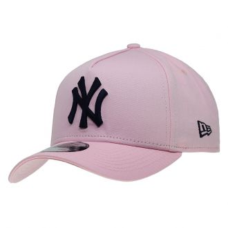 Boné New Era Aba Curva 940 SN MLB NY Yankees AF Bicolors Rosa