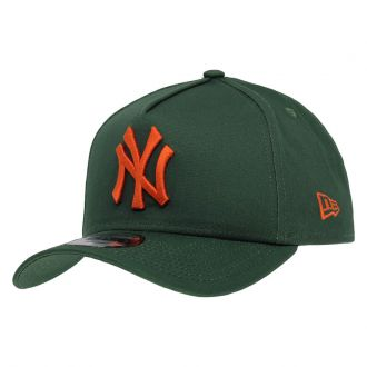 Boné New Era Aba Curva 940 SN MLB NY Yankees AF Bicolors Verde