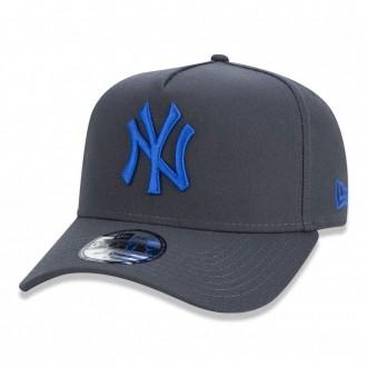 Boné New Era Aba Curva 940 SN MLB NY Yankees AF Fluor Chumbo