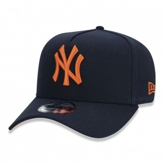 Boné New Era Aba Curva 940 SN MLB NY Yankees AF Fluor Marinho