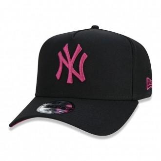 Boné New Era Aba Curva 940 SN MLB NY Yankees AF Fluor Preto