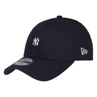 Boné New Era Aba Curva 940 SN MLB NY Yankees Mini Logo Azul Escuro Low