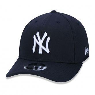 Boné New Era Aba Curva 940 SN MLB NY Yankees Stretch Azul Escuro