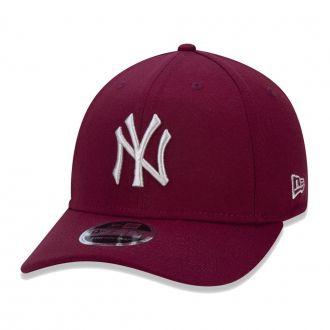 Boné New Era Aba Curva 940 SN MLB NY Yankees Stretch Vinho