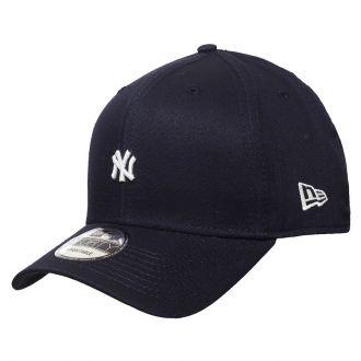 Boné New Era Aba Curva 940 SN MLB NY Yankees TC Mini Logo Azul Escuro