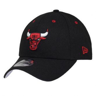 Boné New Era Aba Curva 940 SN NBA Chicago Bulls Team Color Preto