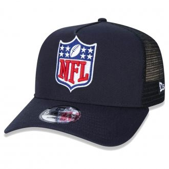 Boné New Era Aba Curva 940 SN NFL Flag Trucker League Azul