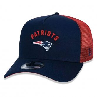 Boné New Era Aba Curva 940 SN NFL Patriots AF Trucker Essentials