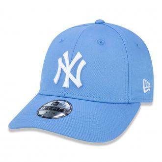 Boné New Era Aba Curva 940 ST MLB NY Yankees Colors Infantil Azul Claro