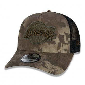 Boné New Era Aba Curva 940 ST NBA Lakers AF Trucker Camo
