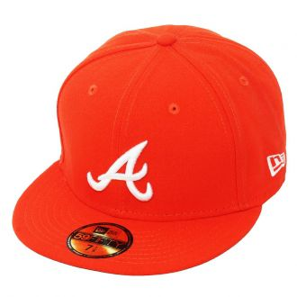 Boné New Era Aba Reta 5950 MLB Atlanta Basic Colors Laranja