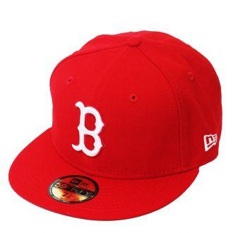 Boné New Era Aba Reta 5950 MLB Boston Basic Colors Vermelho