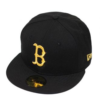 Boné New Era Aba Reta 5950 MLB Boston Basic Gold Preto