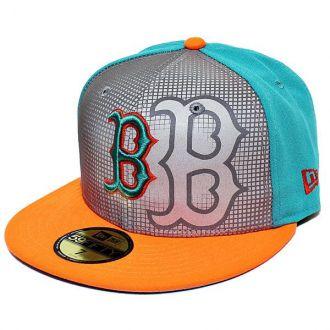 Boné New Era Aba Reta 5950 MLB Boston Reflective