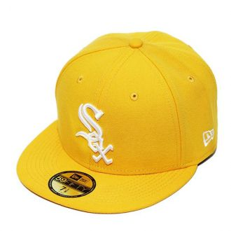 Boné New Era Aba Reta 5950 MLB Chicago Sox Basic Colors Amarelo