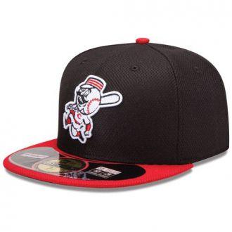 Boné New Era Aba Reta 5950 MLB Cincinnati Diamond Era Preto