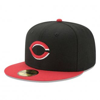 Boné New Era Aba Reta 5950 MLB Cincinnati On Field Game Preto