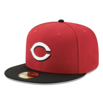 Boné New Era Aba Reta 5950 MLB Cincinnati On Field Game Vermelho