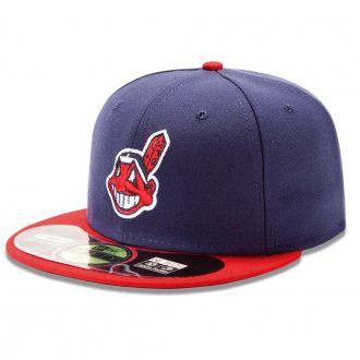 Boné New Era Aba Reta 5950 MLB Indians On Field Home