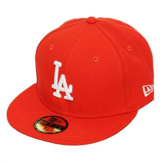 Boné New Era Aba Reta 5950 MLB Los Angeles Basic Colors Laranja