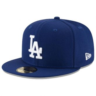 Boné New Era Aba Reta 5950 MLB Los Angeles Classic Azul Escuro