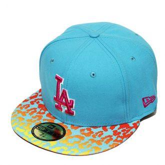 Boné New Era Aba Reta 5950 MLB Los Angeles Crakle Azul Claro