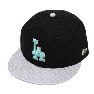 Boné New Era Aba Reta 5950 MLB Los Angeles Reflect Vioza Preto