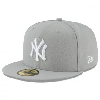 Boné New Era Aba Reta 5950 MLB NY Yankees Basic Colors Cinza