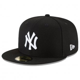 Boné New Era Aba Reta 5950 MLB NY Yankees Basic Colors Preto