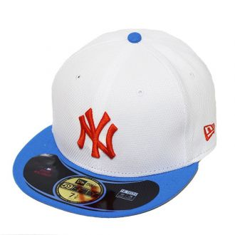 Boné New Era Aba Reta 5950 MLB NY Yankees Diamond Era Pop Branco