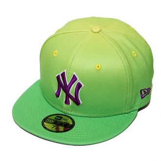 Boné New Era Aba Reta 5950 MLB NY Yankees Gradation Verde