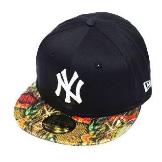 Boné New Era Aba Reta 5950 MLB NY Yankees Snake Visor