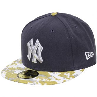 Boné New Era Aba Reta 5950 MLB NY Yankees Stand of Arms