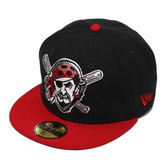 Boné New Era Aba Reta 5950 MLB Pirates Edge Preto