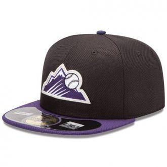 Boné New Era Aba Reta 5950 MLB Rockies Diamond Era