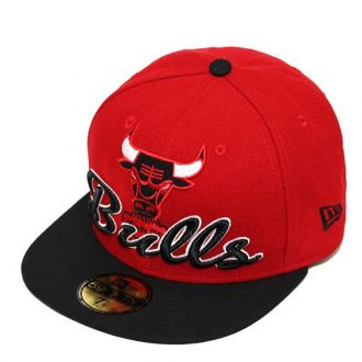 Boné New Era Aba Reta 5950 NBA Bulls Script Down