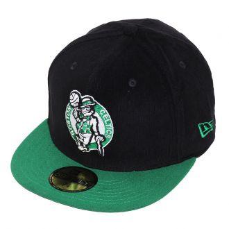 Boné New Era Aba Reta 5950 NBA Celtics Team Cord
