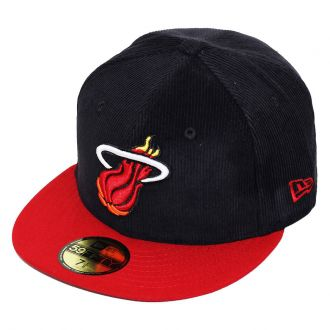 Boné New Era Aba Reta 5950 NBA Heat Team Cord