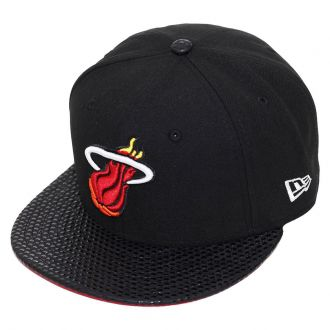 Boné New Era Aba Reta 5950 NBA Heat Tonal