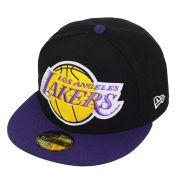 Boné New Era Aba Reta 5950 NBA Lakers OS Felt