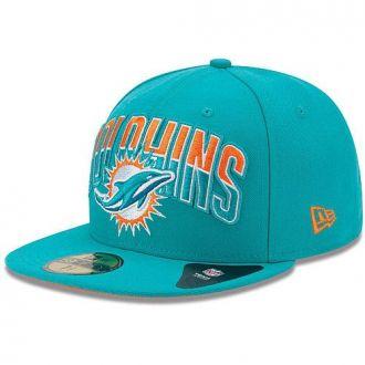 Boné New Era Aba Reta 5950 NFL Dolphins Draft Team
