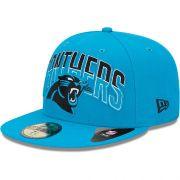 Boné New Era Aba Reta 5950 NFL Panthers Draft Team
