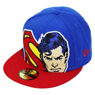 Boné New Era Aba Reta 5950 Superman HCL