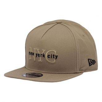 Boné New Era Aba Reta 950 SN Brand NYC Core Marrom Claro